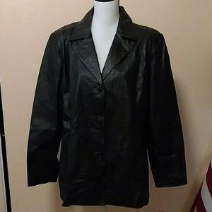 Size 1X leather jacket from Worthington